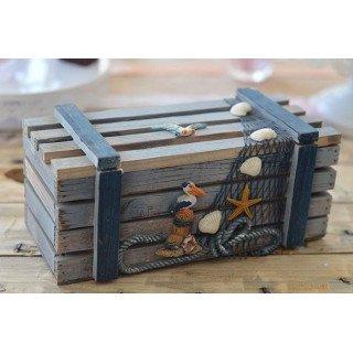 Cagette bois thème mer Modèle 1