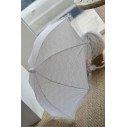 Parapluie mariage dentelle blanche imperméable