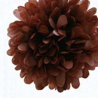 pompon marron20cmX4