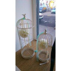 Cage déco ivoire oiseau Modèle Moyen