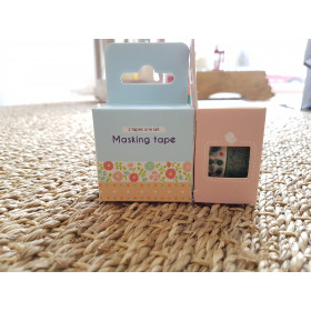 Boite 2 masking tape imprimé