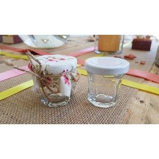 Pot confiture en verre couvercle blanc
