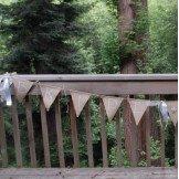 Guirlande fanion toile de jute