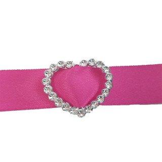 Boucle passe ruban cœur argent acrylique (sachet de 100)