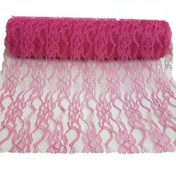 Chemin de table dentelle fushia