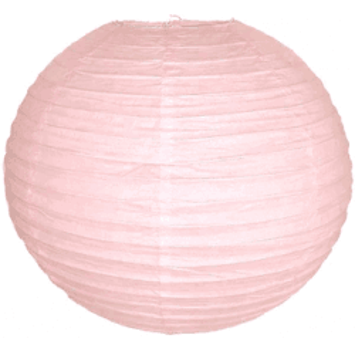 Boule lampion rose pastel 40cm
