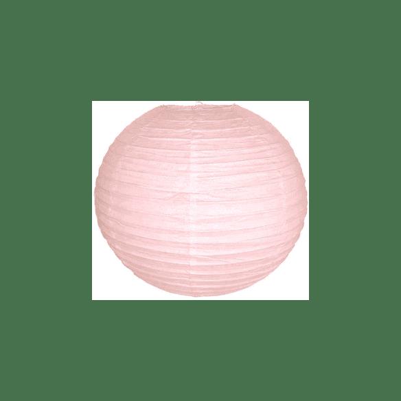 Boule lampion papier rose pastel 40cm