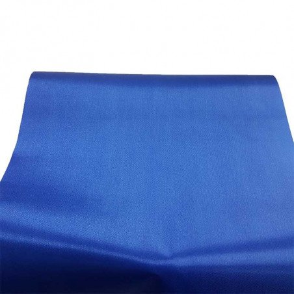 Chemin de table satin bleu roi