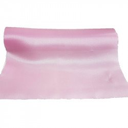 Chemin de table satin rose clair