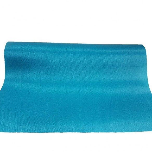 Chemin de table satin bleu turquoise