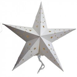 Lanternes étoile argent 45 cm