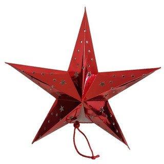 Lanterne étoile rouge 45cm