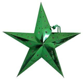 Lanterne étoile verte 45cm