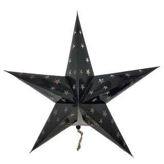 Lanterne étoile noir 60cm