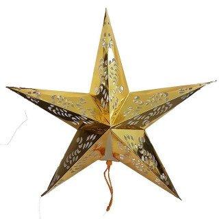 Lanterne étoile or 60cm