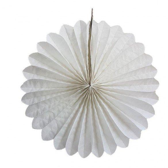 Rosace papier blanche 30cm