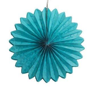 Rosace papier bleu turquoise 30cm