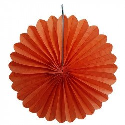 Rosace en papier orange 30cm