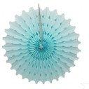 Rosace papier bleu ciel 50cm