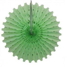 Rosace papier vert d'eau 50cm
