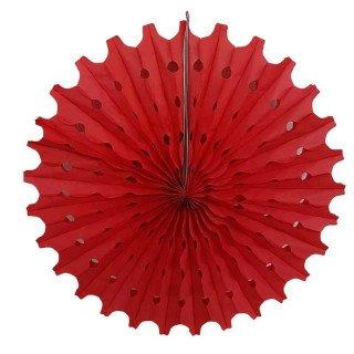 Rosace papier rouge 50cm