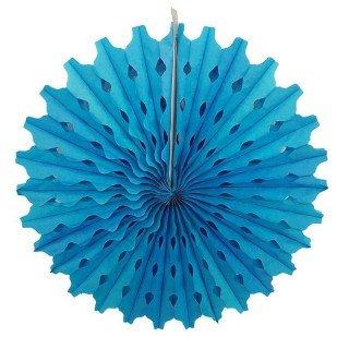 Rosace papier bleu turquoise 50cm