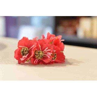 mini fleur dragee fushia sur tige