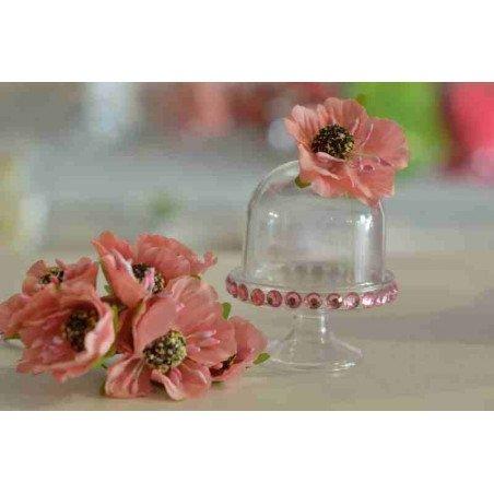mini fleur dragee rose sur tige