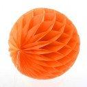 Boule alvéolée en papier orange 20cm