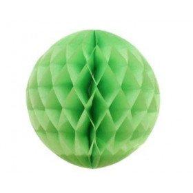 Boule alvéolée papier vert pastel 20cm