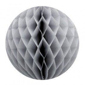 Boule alvéolée papier gris 20cm