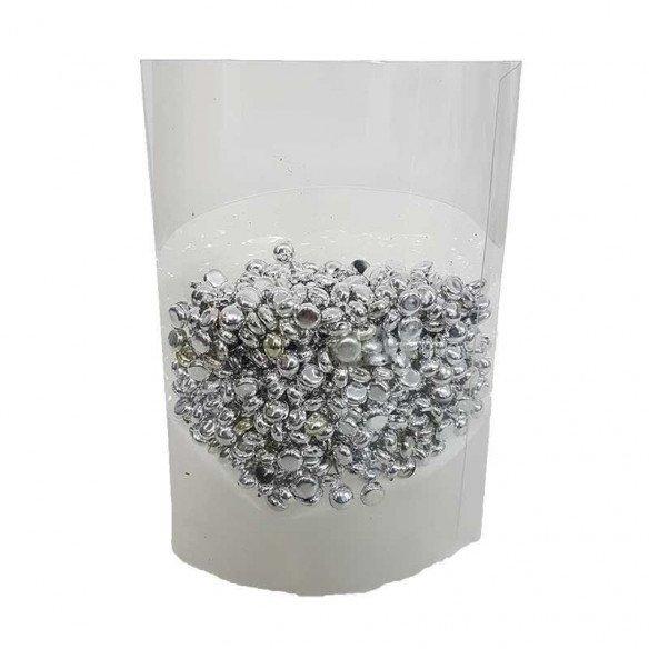 Perles de pluie argent 7mm (boite de 80g)