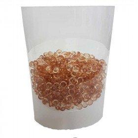 Perles de pluie de décoration beige rosée 7mm (boite de 80g)
