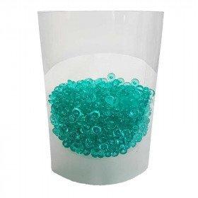 Perles de pluie vert d'eau 7mm (boite de 80g)