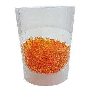 Perles de pluie orange 7mm