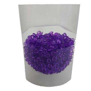 Perles de pluie violet 7mm