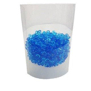 Perles de pluie bleu foncé 7mm
