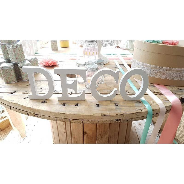 Lettre en bois décorative (de A à Z+&) 11 cm de hauteur