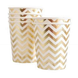 Gobelet chevron or X10