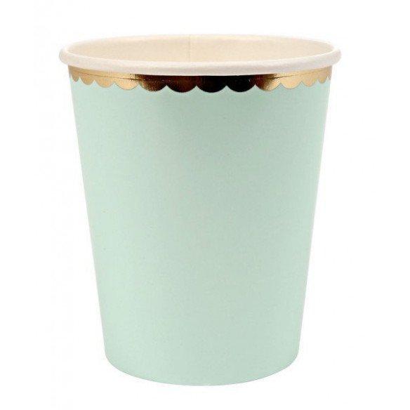Gobelet pastel vert d'eau X10