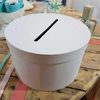 urne mariage ronde blanche
