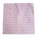 Serviette papier chevron rose fushia x20