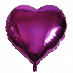 Ballon coeur fushia mylar 45cm