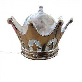 Boite dragée couronne argent