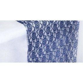 Chemin de table dentelle bleu marine