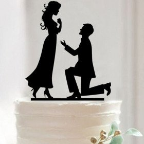 Cake topper mariage romantique