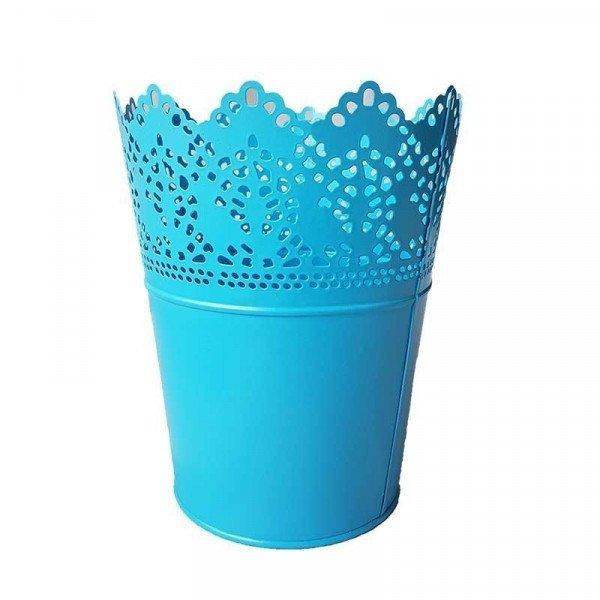 Pot dentellé bleu