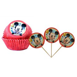 Set cupcake +pic Minnie ou Mickey