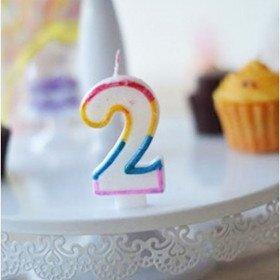 Bougie anniversaire chiffre (0 à 9)
