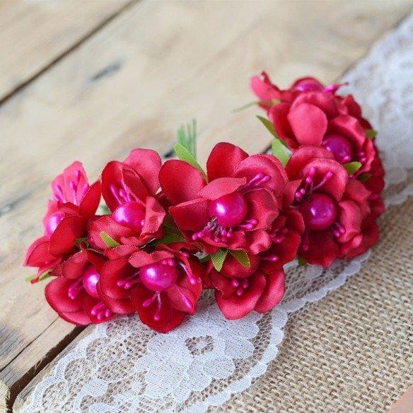 tige fleur fushia coeur perle